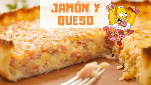 tarta de jamon y queso