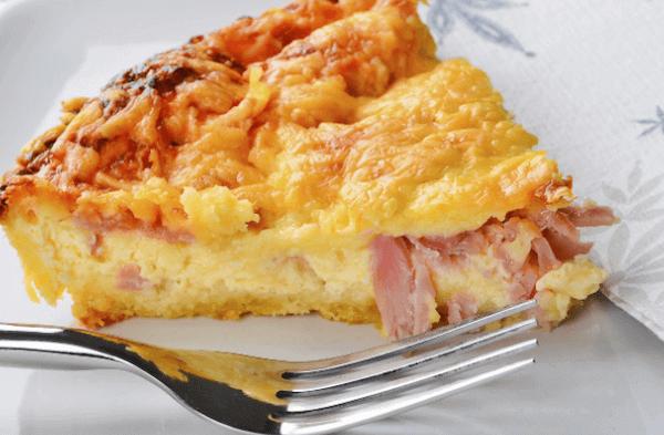 tarta de queso y jamon