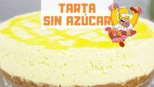 tarta sin azúcar