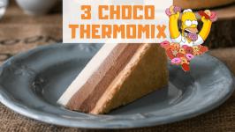 tarta 3 chocolates thermomix